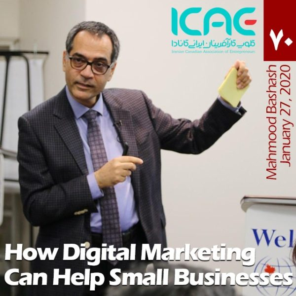 Mahmood Bashash ICAE Biweekly Gathering Digital Marketing Small Business